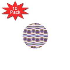 Colorful Wavy Stripes Pattern 7200 1  Mini Buttons (10 Pack)