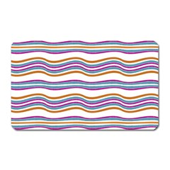 Colorful Wavy Stripes Pattern 7200 Magnet (rectangular)