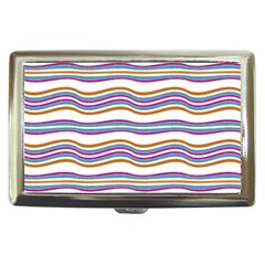 Colorful Wavy Stripes Pattern 7200 Cigarette Money Cases