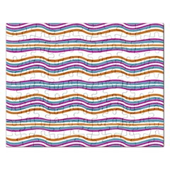 Colorful Wavy Stripes Pattern 7200 Rectangular Jigsaw Puzzl