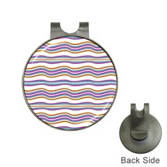 Colorful Wavy Stripes Pattern 7200 Hat Clips With Golf Markers