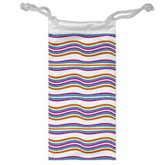 Colorful Wavy Stripes Pattern 7200 Jewelry Bag