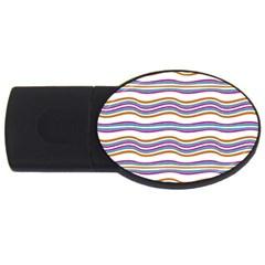 Colorful Wavy Stripes Pattern 7200 Usb Flash Drive Oval (4 Gb)