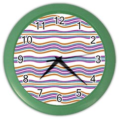 Colorful Wavy Stripes Pattern 7200 Color Wall Clocks