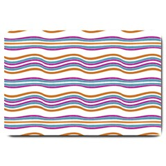 Colorful Wavy Stripes Pattern 7200 Large Doormat