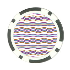 Colorful Wavy Stripes Pattern 7200 Poker Chip Card Guard