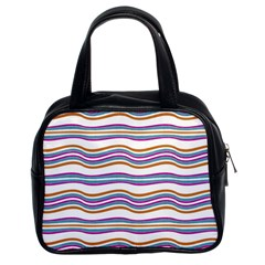 Colorful Wavy Stripes Pattern 7200 Classic Handbags (2 Sides)