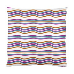 Colorful Wavy Stripes Pattern 7200 Standard Cushion Case (two Sides)