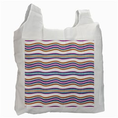 Colorful Wavy Stripes Pattern 7200 Recycle Bag (two Side)