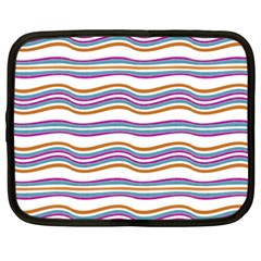 Colorful Wavy Stripes Pattern 7200 Netbook Case (xxl)