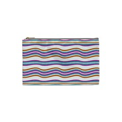 Colorful Wavy Stripes Pattern 7200 Cosmetic Bag (small)