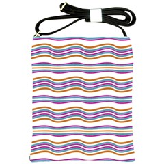 Colorful Wavy Stripes Pattern 7200 Shoulder Sling Bags