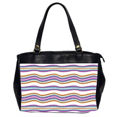 Colorful Wavy Stripes Pattern 7200 Office Handbags (2 Sides)