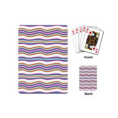 Colorful Wavy Stripes Pattern 7200 Playing Cards (mini)