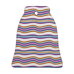 Colorful Wavy Stripes Pattern 7200 Bell Ornament (two Sides)