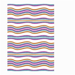 Colorful Wavy Stripes Pattern 7200 Small Garden Flag (two Sides)