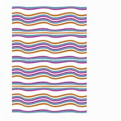 Colorful Wavy Stripes Pattern 7200 Large Garden Flag (two Sides)