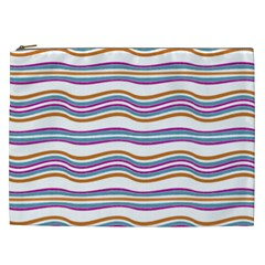 Colorful Wavy Stripes Pattern 7200 Cosmetic Bag (xxl)