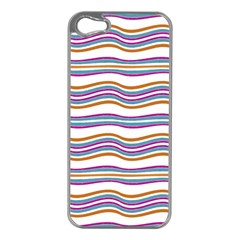 Colorful Wavy Stripes Pattern 7200 Apple Iphone 5 Case (silver)