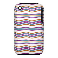 Colorful Wavy Stripes Pattern 7200 Iphone 3s/3gs