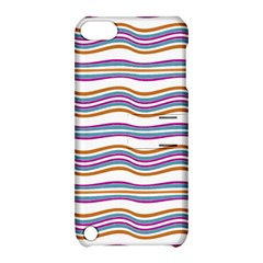 Colorful Wavy Stripes Pattern 7200 Apple Ipod Touch 5 Hardshell Case With Stand