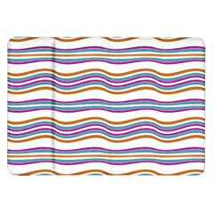 Colorful Wavy Stripes Pattern 7200 Samsung Galaxy Tab 8 9  P7300 Flip Case by dflcprints