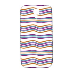 Colorful Wavy Stripes Pattern 7200 Samsung Galaxy S4 I9500/i9505  Hardshell Back Case
