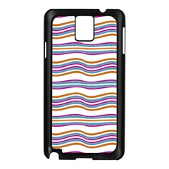Colorful Wavy Stripes Pattern 7200 Samsung Galaxy Note 3 N9005 Case (black)