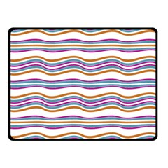 Colorful Wavy Stripes Pattern 7200 Double Sided Fleece Blanket (small)