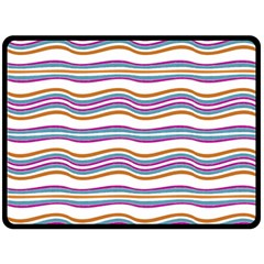 Colorful Wavy Stripes Pattern 7200 Double Sided Fleece Blanket (large)