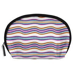Colorful Wavy Stripes Pattern 7200 Accessory Pouches (large)