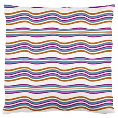 Colorful Wavy Stripes Pattern 7200 Standard Flano Cushion Case (one Side)