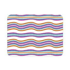 Colorful Wavy Stripes Pattern 7200 Double Sided Flano Blanket (mini)