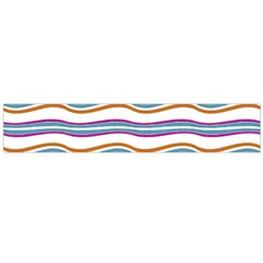Colorful Wavy Stripes Pattern 7200 Large Flano Scarf