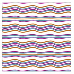 Colorful Wavy Stripes Pattern 7200 Large Satin Scarf (square)