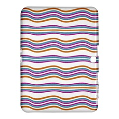 Colorful Wavy Stripes Pattern 7200 Samsung Galaxy Tab 4 (10 1 ) Hardshell Case
