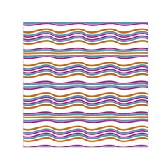 Colorful Wavy Stripes Pattern 7200 Small Satin Scarf (square)