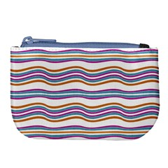 Colorful Wavy Stripes Pattern 7200 Large Coin Purse