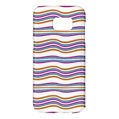 Colorful Wavy Stripes Pattern 7200 Samsung Galaxy S7 Edge Hardshell Case