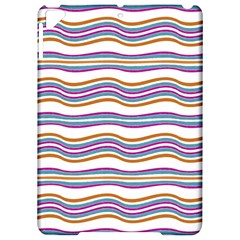 Colorful Wavy Stripes Pattern 7200 Apple Ipad Pro 9 7   Hardshell Case by dflcprints