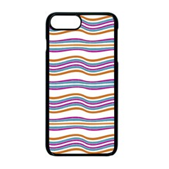 Colorful Wavy Stripes Pattern 7200 Apple Iphone 7 Plus Seamless Case (black)