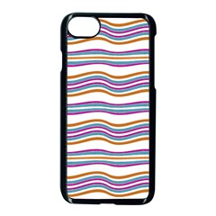 Colorful Wavy Stripes Pattern 7200 Apple Iphone 7 Seamless Case (black)