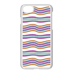 Colorful Wavy Stripes Pattern 7200 Apple Iphone 8 Seamless Case (white)