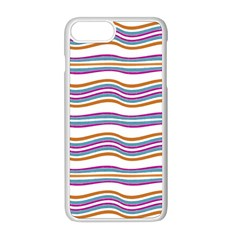 Colorful Wavy Stripes Pattern 7200 Apple Iphone 8 Plus Seamless Case (white)