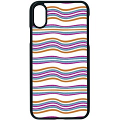 Colorful Wavy Stripes Pattern 7200 Apple Iphone X Seamless Case (black)