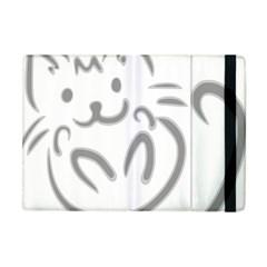 Cat Feline Cute Pet Animal Apple Ipad Mini Flip Case