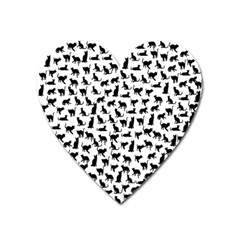 Heart Love Cats Kitten Kitty Heart Magnet by Simbadda
