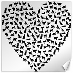 Heart Love Cats Kitten Kitty Canvas 20  X 20
