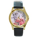 dawn of the dead Round Gold Metal Watch