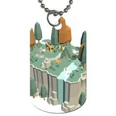 Camping Low Poly 3d Polygons Dog Tag (two Sides)